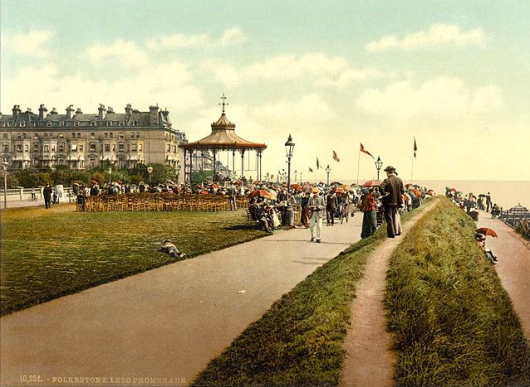 Folkestone, says Dalrymple, was a 'jewel of Victorian and Edwardian seaside building' with 'a beautiful Victorian wrought iron bandstand on the front'.