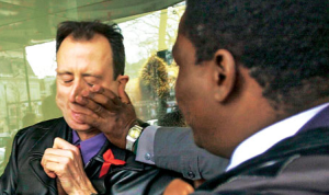 Shown here being attacked by Mugabe's thugs, Tatchell has proved he has courage. He has also demonstrated the quality of tolerance — 'admirable and alas all too uncommon', as Dalrymple puts it.