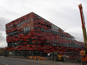 Visual torture: the carbuncular, monstrously ugly amenities building of Nottingham university's Jubilee campus