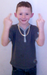 Self-expression: Justin Carley, 12, threw dog excrement at a neighbour's van and raced his bike through a library