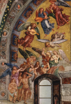 Luca Signorelli, The Elect Being Called to Paradise. Fresco, 1499-1502. Chapel of San Brizio, Duomo, Orvieto