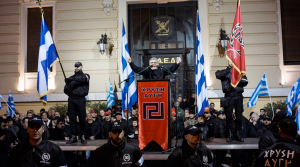 Dalrymple points out that Greece's Golden Dawn is, 'alone of the so-called far-right political parties in Europe, authentically Nazi, down to the street thuggery'