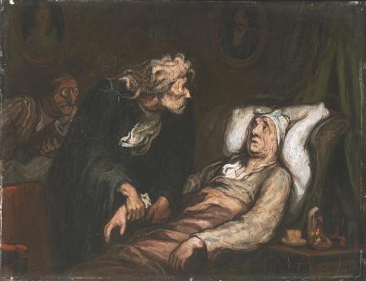 Le Malade imaginaire. Honoré Daumier, c. 1860-62. Philadelphia Museum of Art