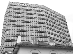 Eagle Tower (offices of Eagle Star insurance company), Cheltenham. 1968, Stone Thomas & Partners