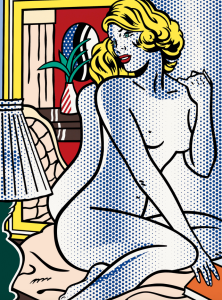 Blue Nude, 1995. Dalrymple chats to an art student, a patient of his. She tells him she is learning art history. Dalrymple asks her what she is learning. 'Roy Lichtenstein,' she replies.