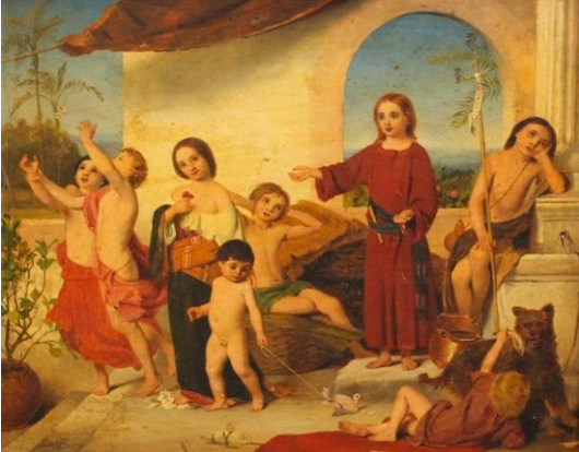 William C.T. Dobson, Christ as a Child, 1857. 'Garish and sickly,' says Dalrymple. 'The likes of Dobson not only painted bad pictures but did lasting damage to our artistic tradition, making the avoidance of their kitschy sentiment almost the first duty of any artist.'