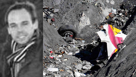Amok-pilot Andreas Lubitz forces Germanwings flight 9525 to crash into the French Alps