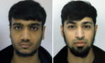 Ordinary Yorkshire lads now: Hassan Munshi, left, and Talha Asmal. Hassan's elder brother  Hammaad Munshi is the youngest person in the country to be convicted of terrorism