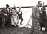 Ladapo Samuel Ademola II, the Alake of Egbaland, in Trowbridge in 1937 on a visit to the Bath and West Show