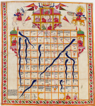 Snakes and ladders, late 19th century. Victoria & Albert Museum, London