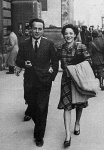 Bassani and his wife Valeria in 1943