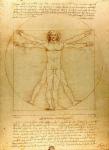 Leonardo da Vinci, Le proporzioni del corpo umano secondo Vitruvio, c. 1490. Gallerie dell'Accademia, Venice