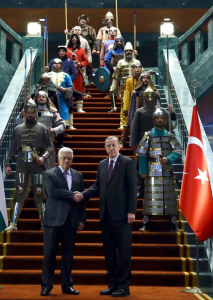 My first reaction when seeing President Erdogan standing at the foot of the stairs of his palace in Ankara, said to be several times larger than Versailles, was to laugh (I am not a Turkish taxpayer). Surely it was some kind of film set, to be dismantled when the film has been completed. They would do better in Hollywood, or even in Las Vegas. At least there it would be fun. As for the janissaries that Mr. Erdogan now uses for ceremonial purposes, any provincial theatrical costumier would be ashamed of their tawdry inauthenticity.