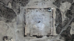 Satellite image confirming the destruction of the Temple of Baal (dedicated 32 A.D.)