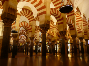 Grand Mosque of Córdoba (begun 784), part of interior