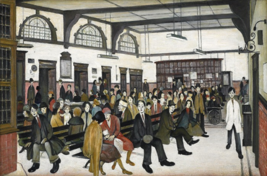 Ancoats Hospital Outpatients' Hall, 1952. Whitworth Art Gallery, Manchester