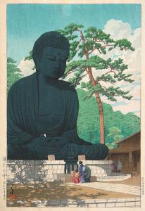 Kawase Hasui, Great Buddha at Kamakura