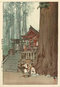 Hiroshi Yoshida, Misty Day in Nikko