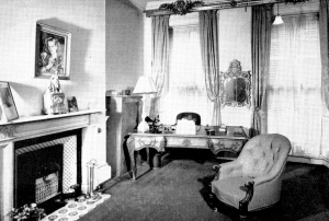 Consulting-room at 13 Harley Street. Note the painting of a young Margaret Thatcher