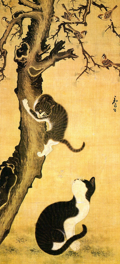 Byeon Sang-byeok, Cats and Sparrows, mid-18th century
