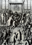 Charles II touches a patient for tuberculous swelling of the lymph glands