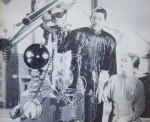 Dr Fu and assistant at work in his Museum Street lab